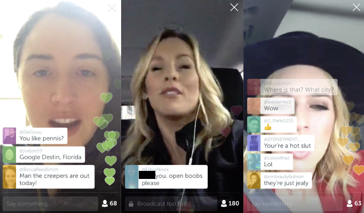 Periscope live comments